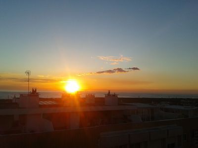 Top floor home from home apartment  with large private sun terrace with sea view
