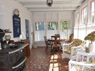 Peaks Island cottage photo - Sunny East End Porch Off Kitchen