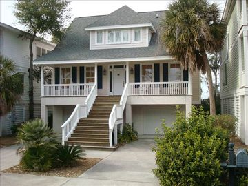 Fripp Island house rental - Fripp Island House with Golf Course View, Marsh View and Screen Porch