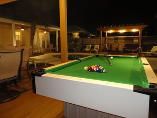 Crystal Beach house photo - Seawatch Pool Table at night