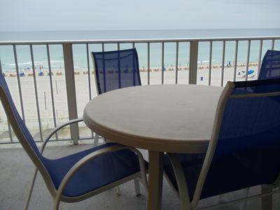 View of beach from front patio.