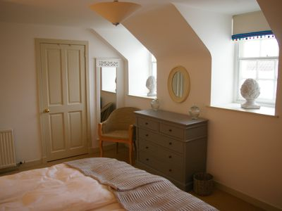 St Andrews & North Fife cottage rental - Double Bedroom 2 with door to Ensuite
