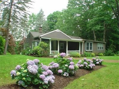 "Beautiful flowers & trees frame ""Ellsworth Cottage"""