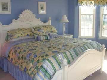 Custom decorated 1st Floor Master Bedroom w/ lakeview, tv, triple dresser