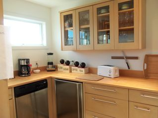 "High Bar Harbor house photo - Our ""secret"" kitchen---extra frig, dishwasher, sink. We use it for drinks!"