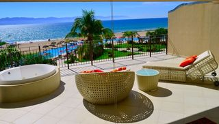 Puerto Vallarta condo photo - Private Patio w/ Furniture & Hot Tub