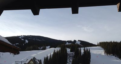 Southern view from our deck.  Half pipe on the left and Flyer lift on the right
