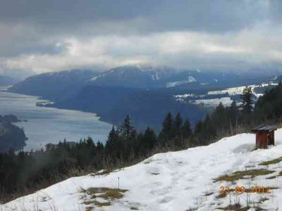 2 Min Walk from House! Gorge view/Hood River Valley to west from viewing bench