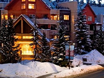 Lake Placid Lodge in Whistler's Creekside - ours is Unit 101 - ground floor, as close as you can possibly be to the ski lift!