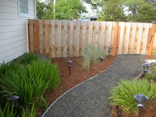 Moclips townhome photo - Fenced garden Area next to Coastal Breeze