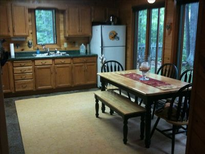Stone Lake house rental - Fully stocked kitchen. Dishes, cookware, coffee maker, toaster, microwave