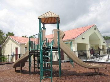 Playground with Safety Fence