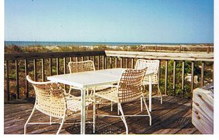 Folly Beach house photo - Outdoor Dining with Ocean VIew