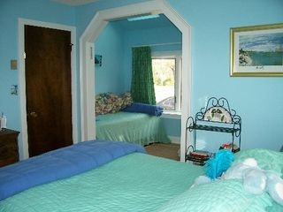 Vineyard Haven house photo - Blue Bedroom Queen with Single in Sitting Area