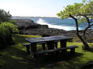 Keaau house photo - Have a picnic by the waves!