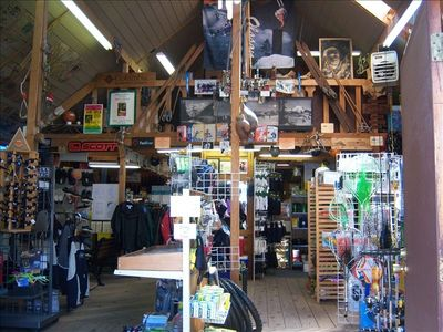 There are cute shops & restaurants in Packwood, 1/2 mi away!