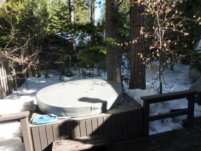 hot tub/back yard