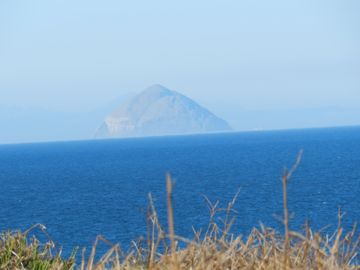 Ailsa Craig seen from one of the walks on Garden Cottage