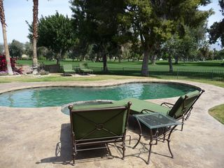 Palm Desert house photo - Enjoy the heated pool and hot tub adjacent to the fairway..