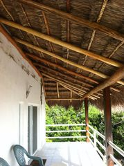 Isla Mujeres house photo - Brand new palapa cover for the second floor balcony!