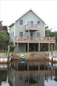 Ocracoke house rental - View from canal