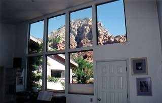 Sedona house rental - Thunder Mountain view from 'great room'