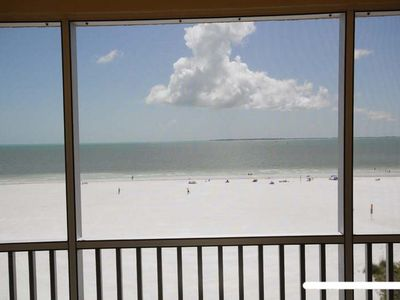 Fort Myers Beach condo rental - Enjoy listening to the Gulf of Mexico as you relax on your lanai-Beautiful Views