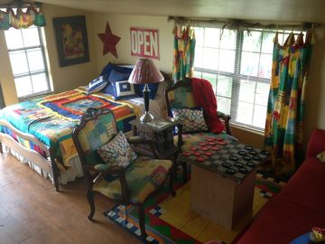 Fort Smith farmhouse rental - The Game Room. Full Size bed and a pull out sleeper.