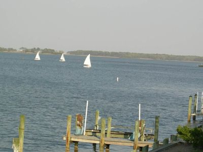 View of Sailboats from Sundeck.