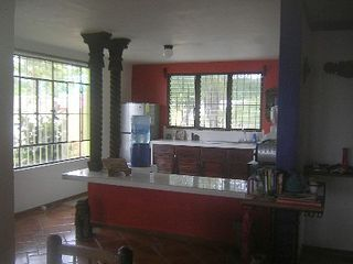 Bacalar house photo - Spacious kitchen with kids eating counter.