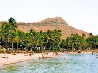 Waikiki condo photo - Lovely Prince Kuhio Beach with view of famous Diamond Head-- just 2 blocks away!