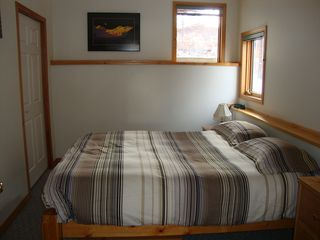 Banff apartment photo - queen size bed, large closet and one chest of drawers
