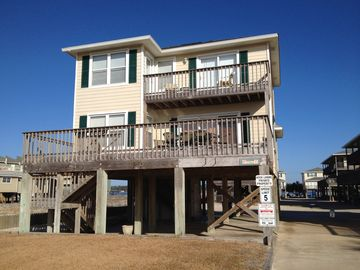 Gulf Shores house rental - Front view of The Southern Cross. Facing south with great views of the gulf!
