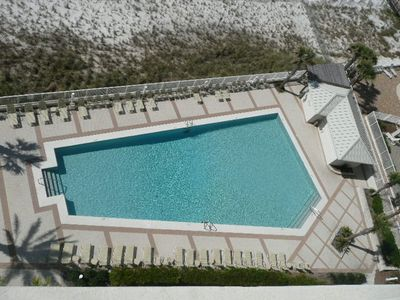 Fabulous outdoor pool with bathroom facilities ....