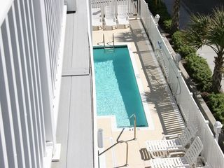 Crescent Beach villa photo - Outdoor pool is shared with the other villa's! The hot tub is to the left!