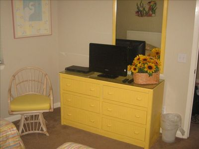 Bedroom 2 with Drawer Space, LCD TV and DVD