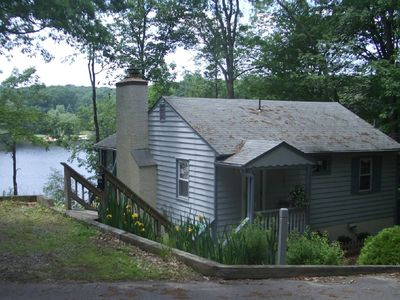 The cottage and beautiful Lake Shawnee