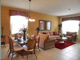 Dining room and living room - Windsor Hills villa vacation rental photo