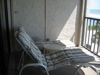 Fort Myers Beach condo photo - Lounge chairs on balcony