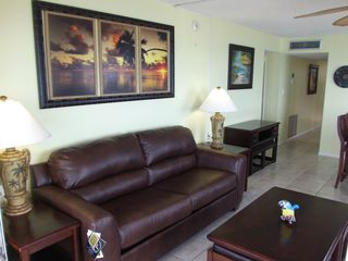 Satellite Beach condo photo - Queen pull-out sofa in living room