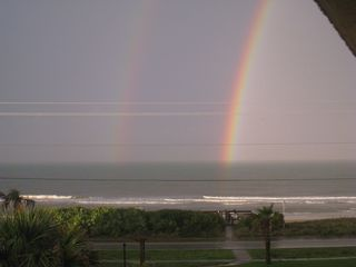 Ormond Beach condo photo - Amazing double rainbow seen from our balcony after a rainstorm.