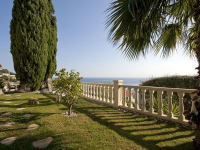 Mont Boron apartment rental - Garden with sea view