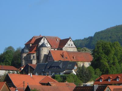 Johanniter castle-the FH with wonderful distant view, sun terrace, beach chair + Sauna