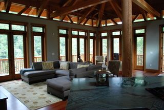 Lake Glenville house photo - Living area