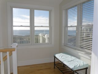 Truro house photo - Top floor landing with stunning views of the bay.