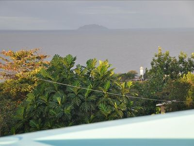 Fantastic views of Desecheo and the Lighthouse taken from the Roof of the Casita