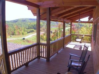 Asheville cabin photo - Large front Deck with rocking chairs or swing!!!