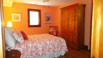 Coral Reef Bedroom With Queen Bed.