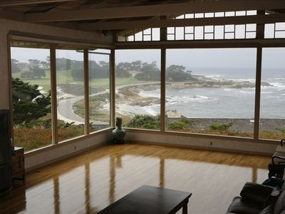 Views of Cypress Point Golf Course and the Pacific.