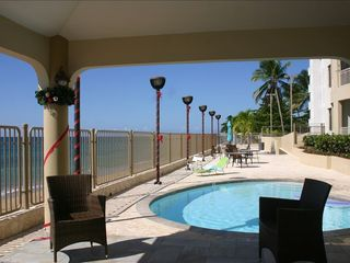 Rincon apartment photo - View of the gazebo and the pool deck.
